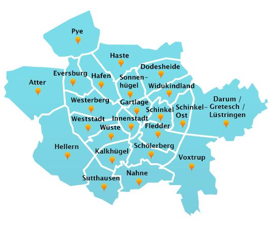 Touren Dachrinnenreinigung in Osnabrück